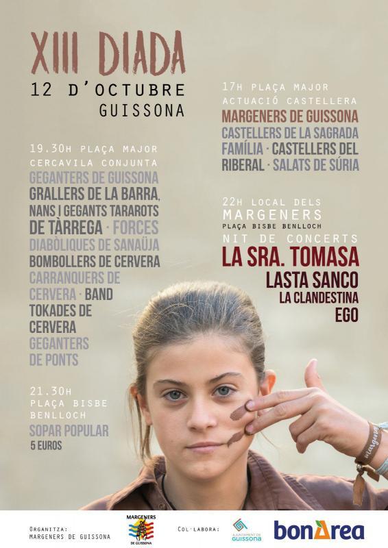cartell XIII Diada dels Margeners de Guissona
