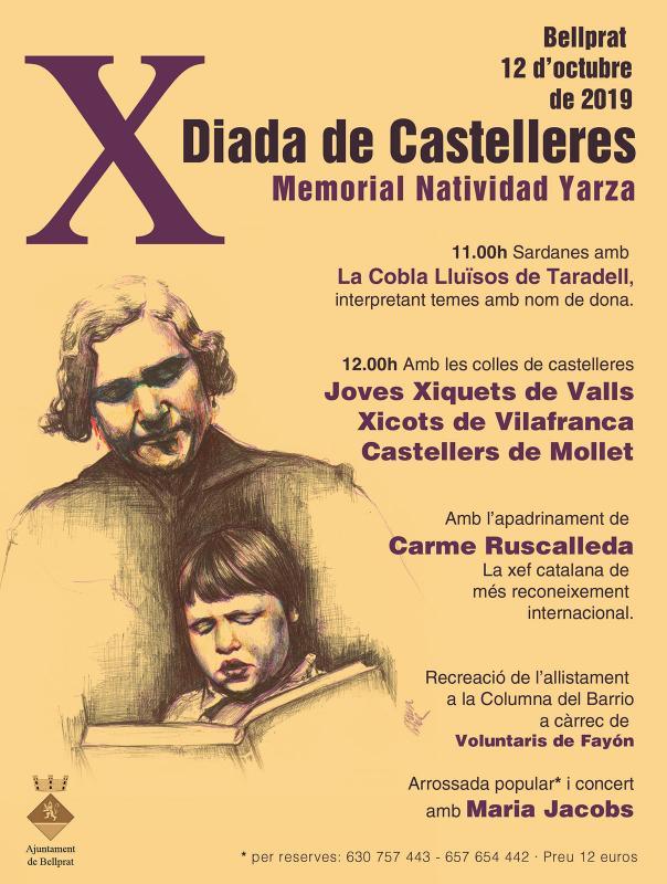 cartell 10a Diada de Castelleres a Bellprat