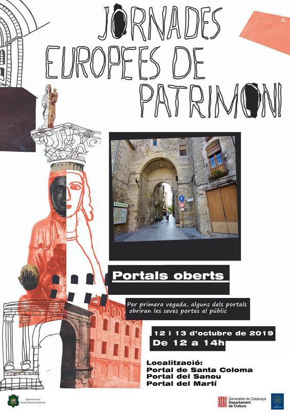 cartell JEP Portals oberts a Santa Coloma de Queralt - Santa Coloma de Queralt