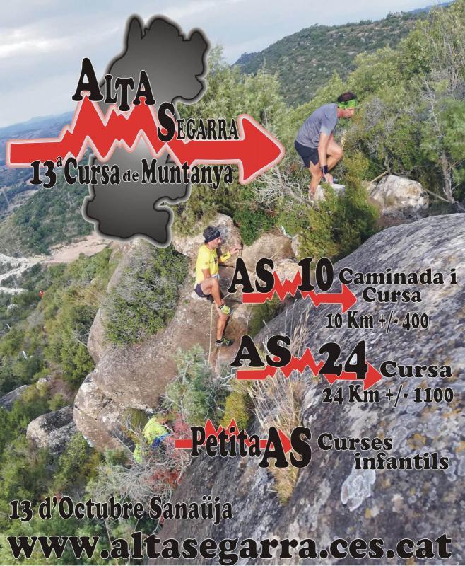 cartell XIII Cursa de muntanya Alta Segarra