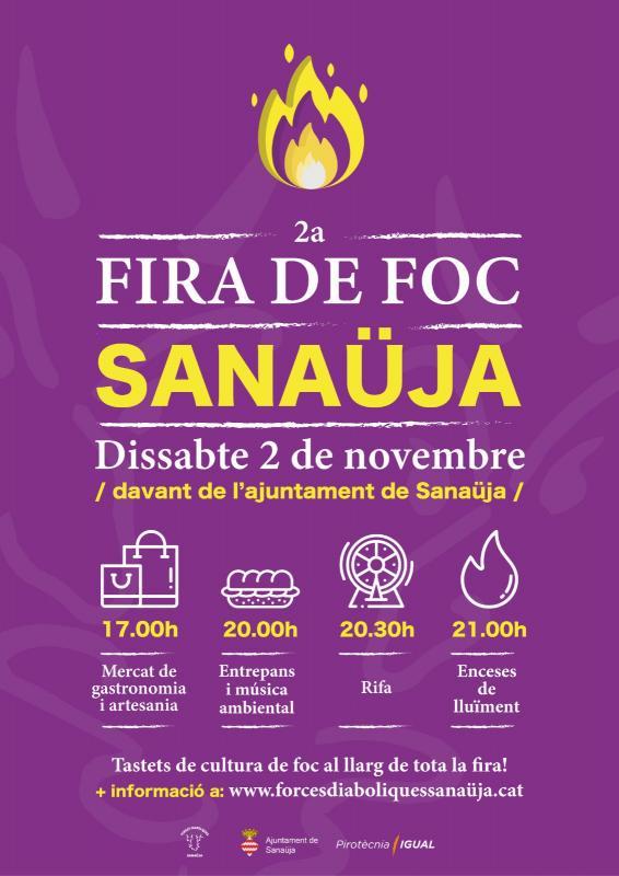 cartell 2a Fira de foc de Sanaüja