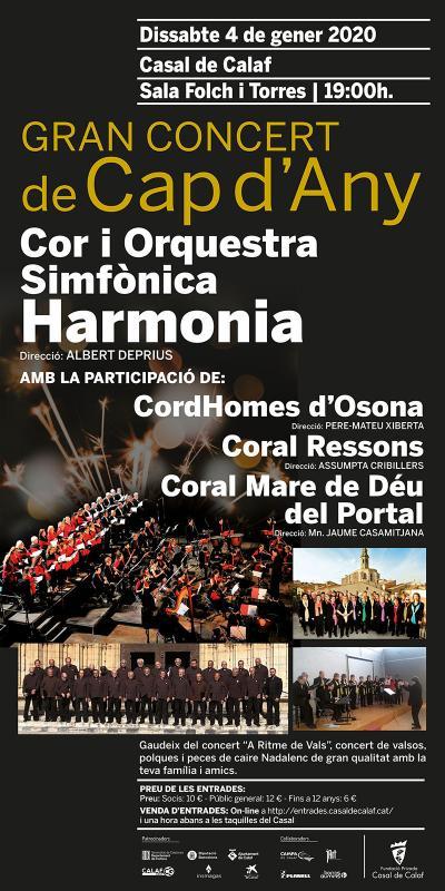 cartell Gran Concert de Cap d'Any Casal de Calaf