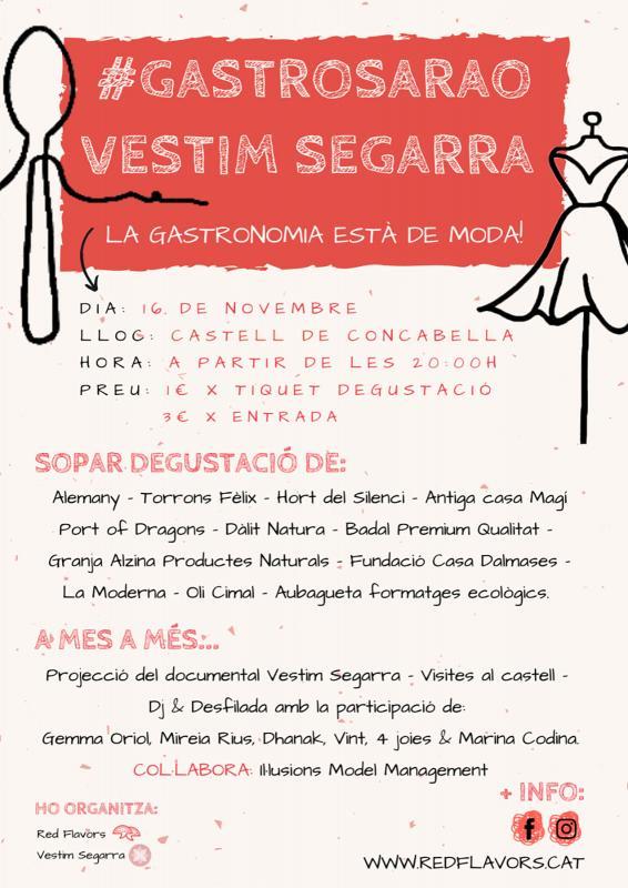 cartell Gastrosarao Vestim la Segarra