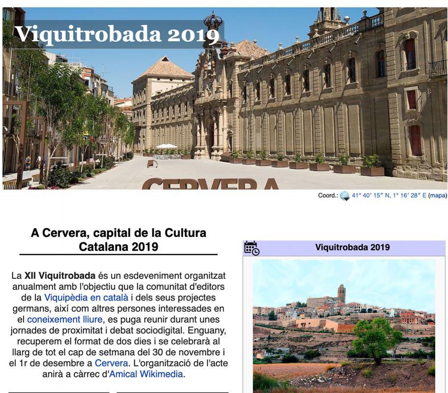 cartell Viquitrobada 2019 - Cervera