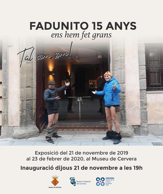 cartell Exposició 'Fadunito 15 anys'