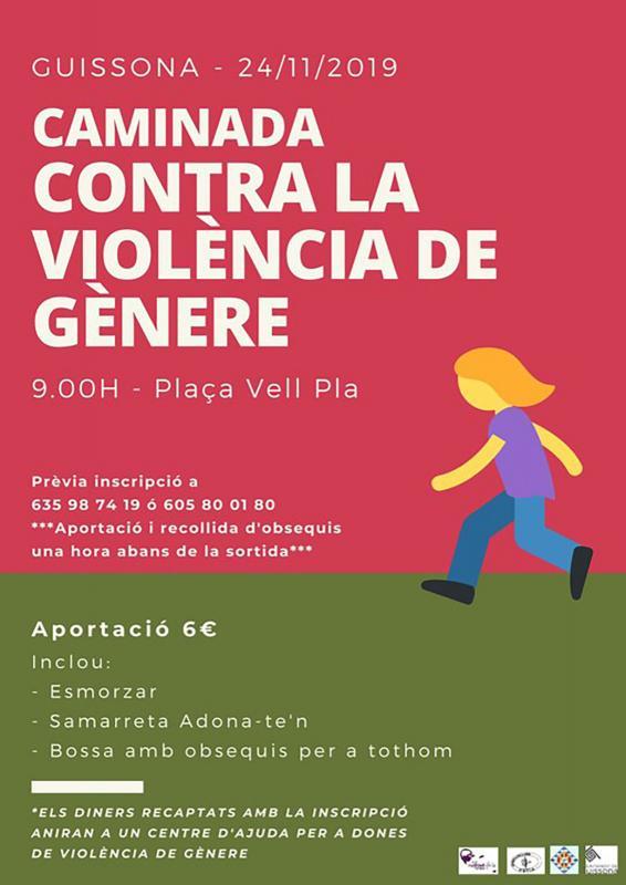 cartell Caminada contra la violència de gènere