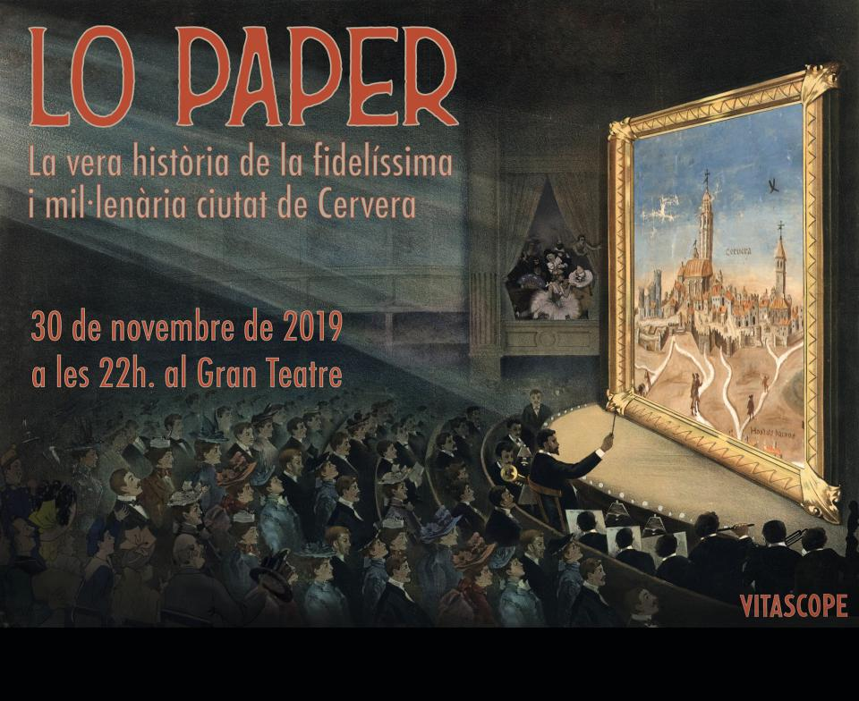 cartell Espectacle 'Lo paper'