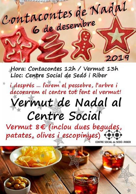 cartell Contacontes de Nadal i Vermut