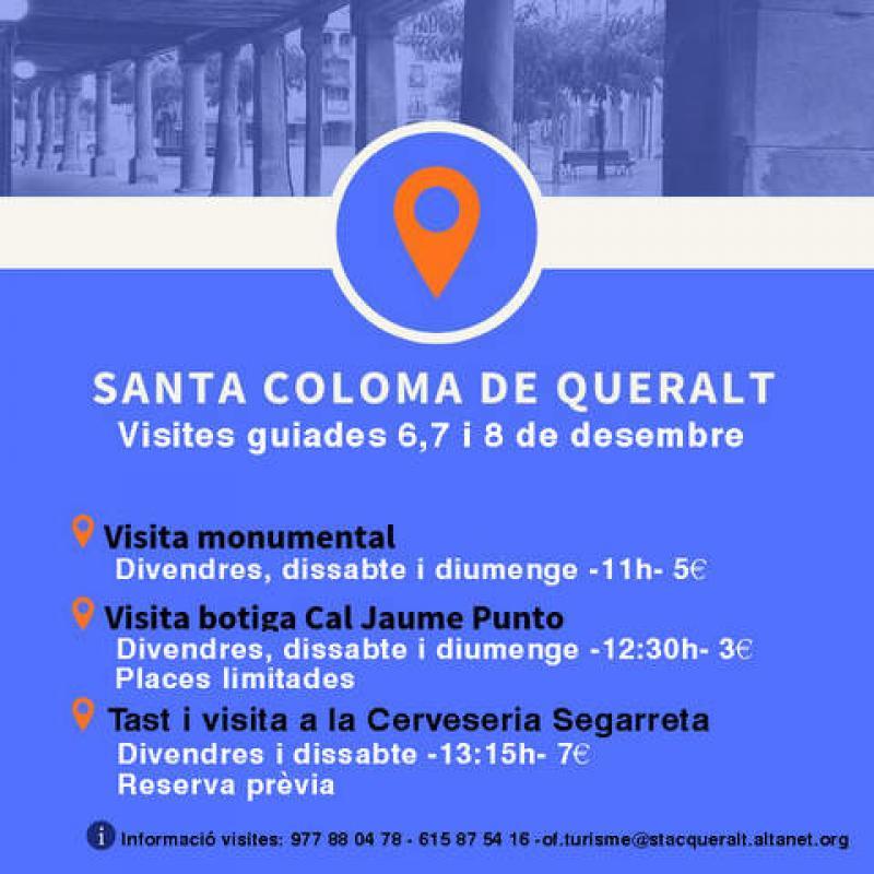 cartell Visites guiades a Santa Coloma de Queralt