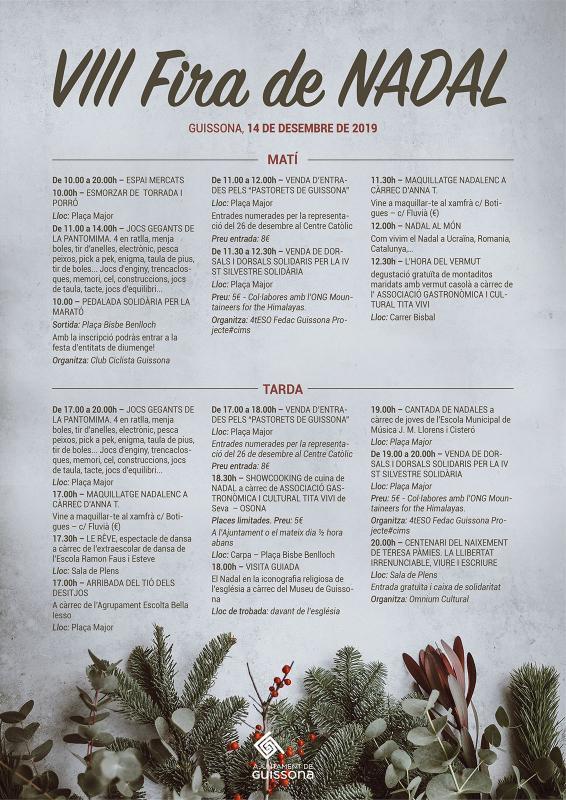 Programa Fira de Nadal Guissona 2019 - Guissona