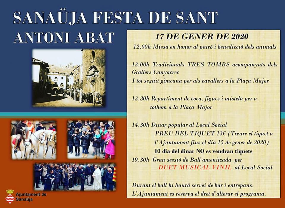 cartell Festa de Sant Antoni Abat 2020