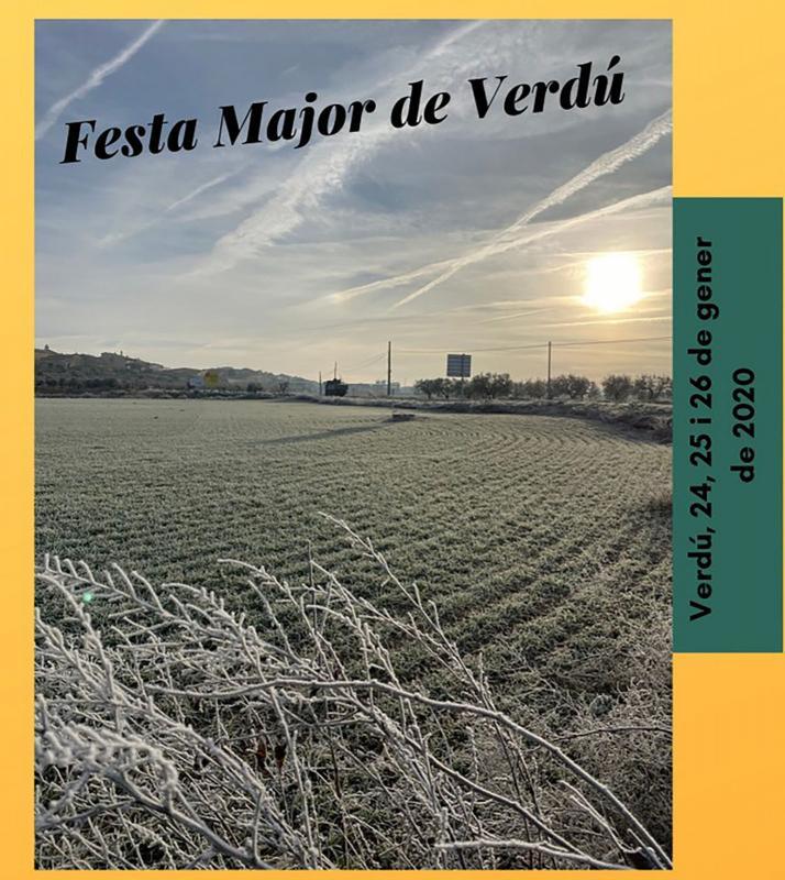 cartell Festa Major d'hivern de Verdú 2020