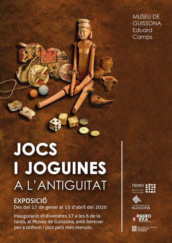 cartell Exposició 'Jocs i joguines de l'antiguitat'