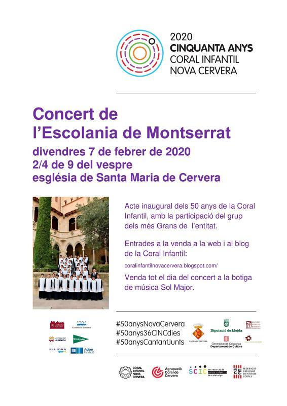cartell Concert de l'Escolania de Montserrat