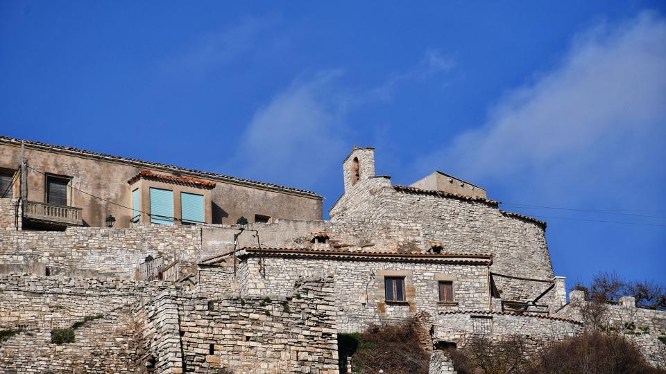 09.02.2020 Vista de la Capella de Sant Salvador de l'Oluja Alta  Les Oluges -  Ramon Sunyer