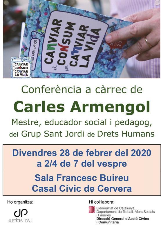 Conferència 'Canviar el consum per canviar la vida'