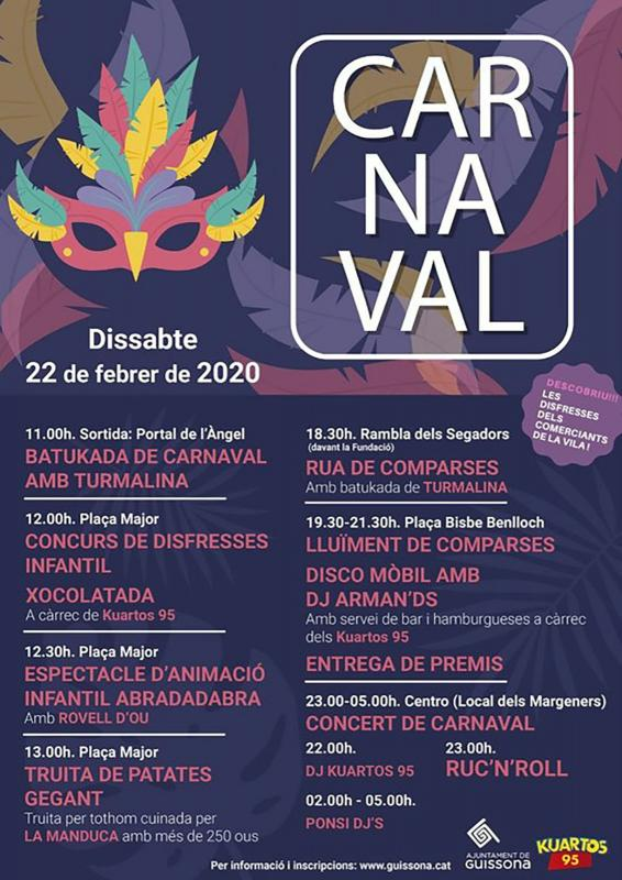 cartell Carnestoltes Guissona 2020
