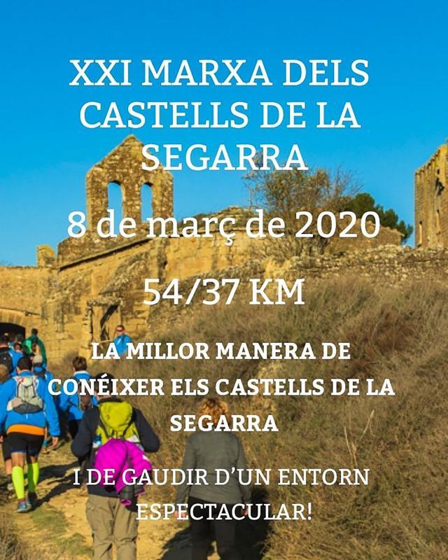 cartell XXI Marxa dels Castells de la Segarra
