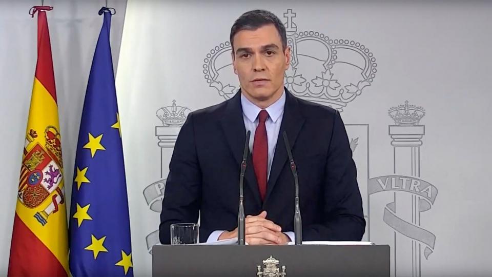 Sánchez declara l'estat d'alarma a tot Espanya durant 15 dies pel coronavirus -