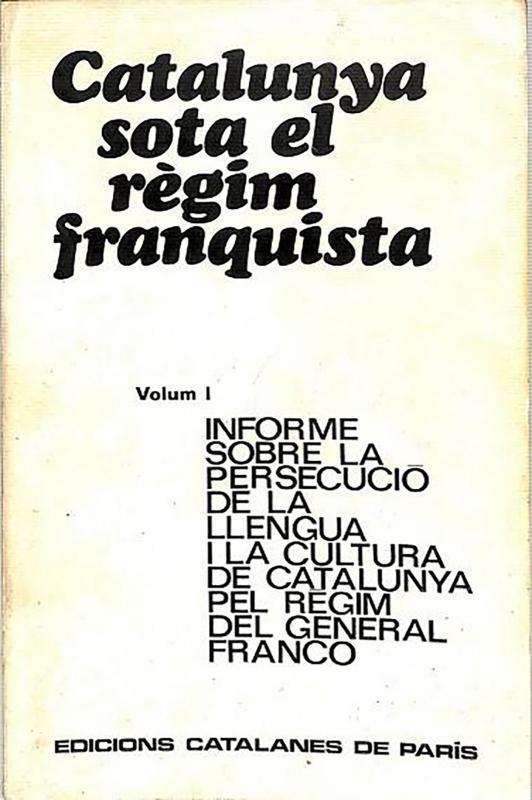 'Catalunya sota el règim franquista' de Josep Benet i Morell - Cervera
