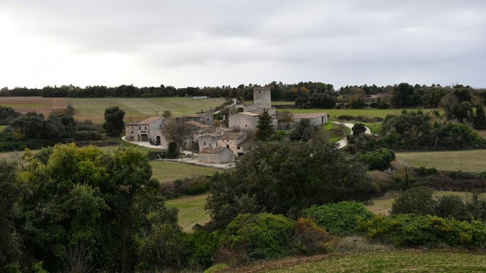 22.12.2019 vista del poble  La Sala de Comalats -  Ramon Sunyer