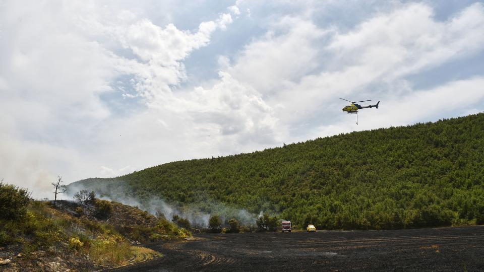 1r incendi agrícola de la temporada a Sanaüja