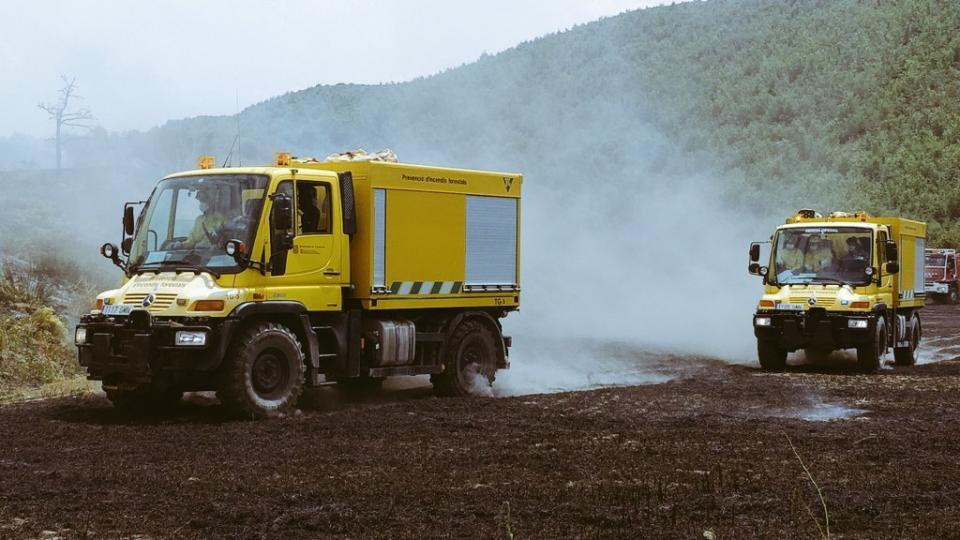 1r incendi agrícola de la temporada a Sanaüja - Sanaüja
