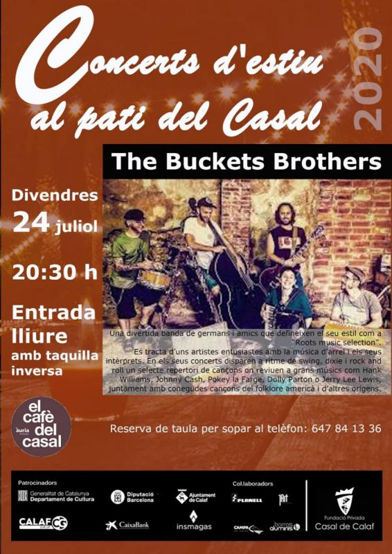 cartell Concerts d'estiu 'The Buckets Brothers'