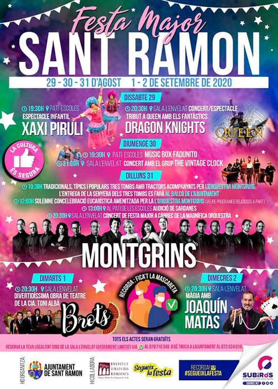 cartell Festa Major de Sant Ramon 2020