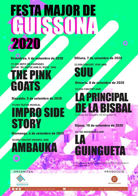 cartell Festa Major de Guissona 2020