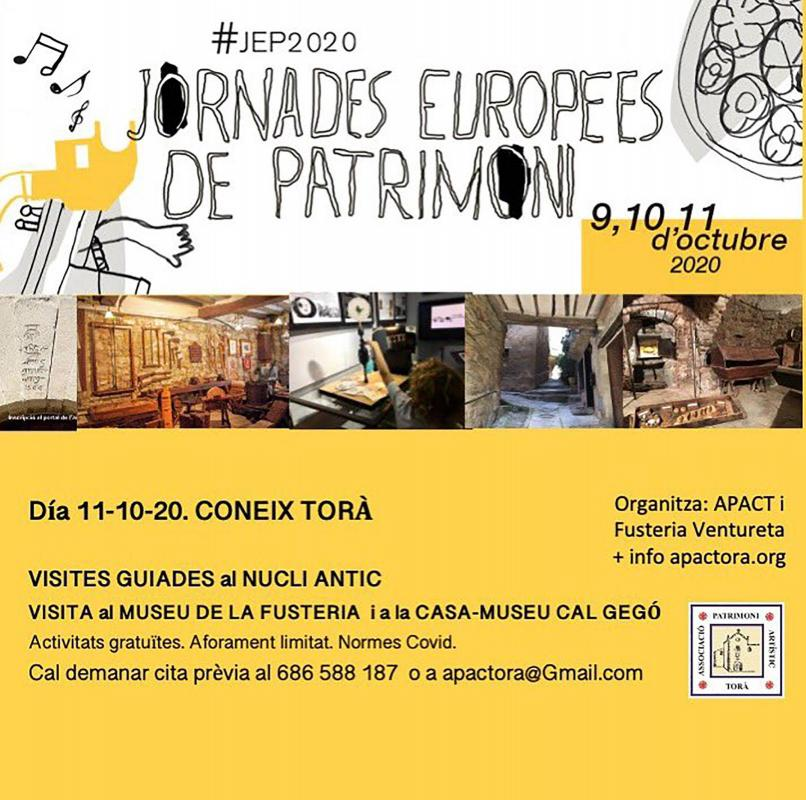 Jornades Europees del Patrimoni 2020 Torà -