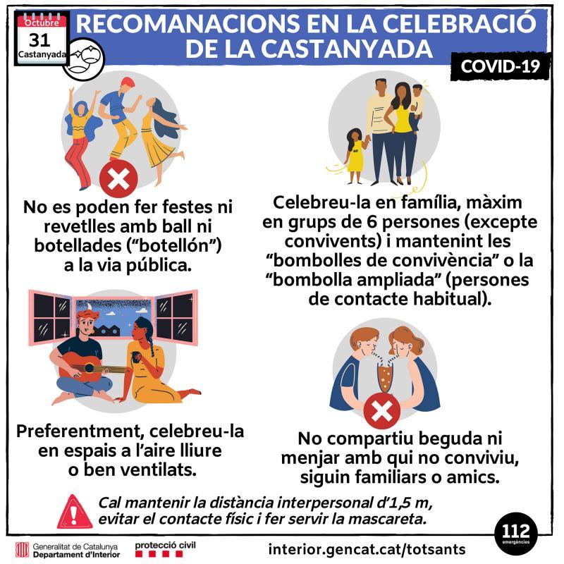 Recomanacions de Protecció Civil per a la celebració de Tots Sants