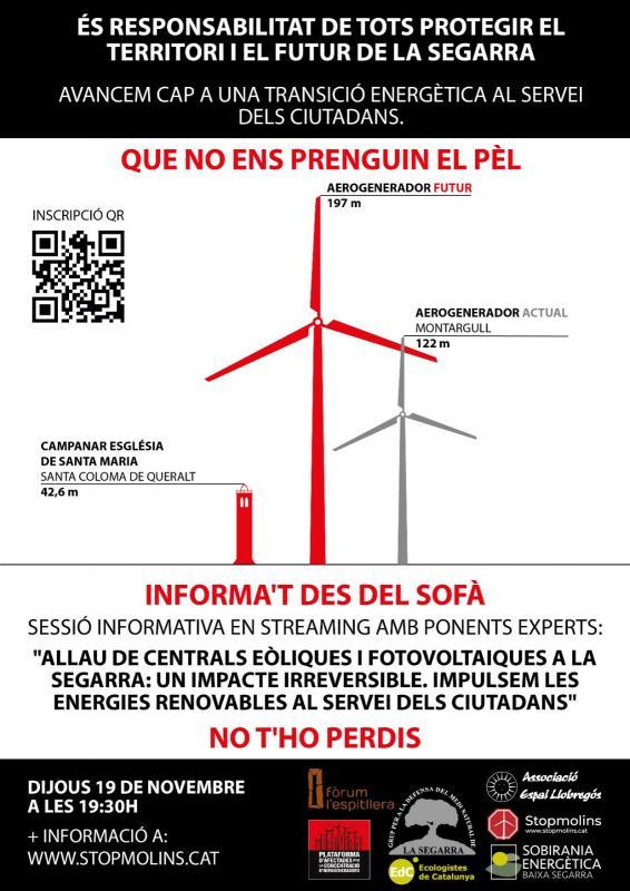 Allau de centrals eòliques i fotovoltaiques a la Segarra. Un impacte irreversible.