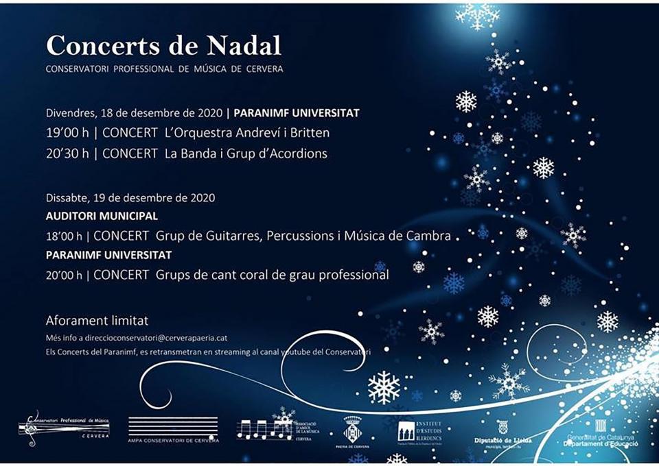 Concerts de Nadal del Conservatori