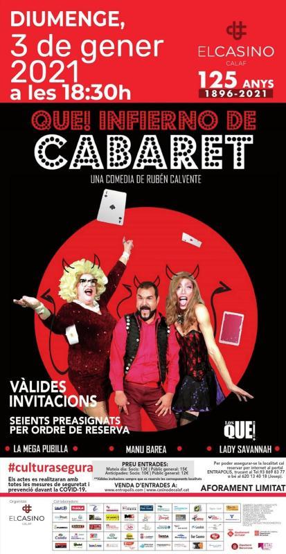 cartell Musical 'Que! infierno de Cabaret'