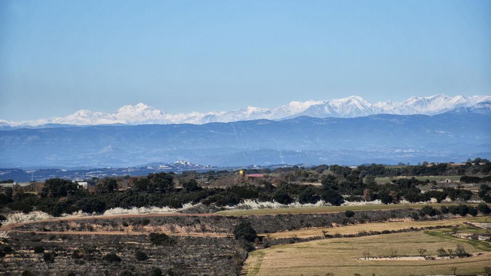 26.12.2020 vista dels Pirineus  Montfalcó Murallat -  Ramon Sunyer