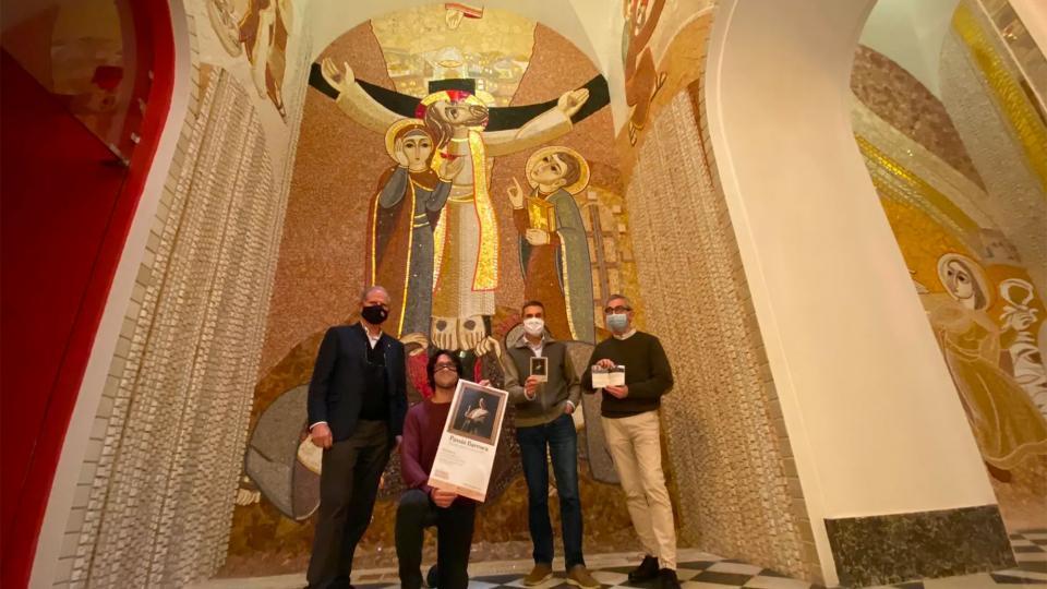 Presentació en Roda de Premsa a La Cova de St. Ignasi de Manresa de la 4a. edició del Festival Espurnes Barroques
