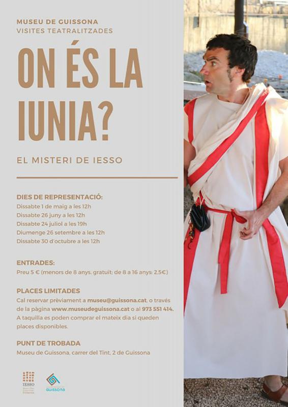 cartell Visita teatralitzada 'On és la Iunia?'
