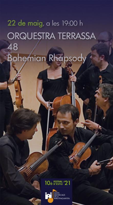 cartell Orquestra de Cambra Terrassa 48 (Nits Musicals de la Brufaganya)