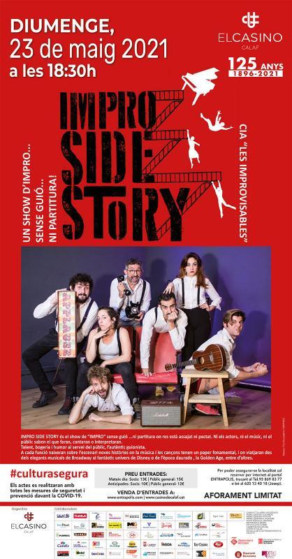 cartell Teatre 'Impro Side Story'