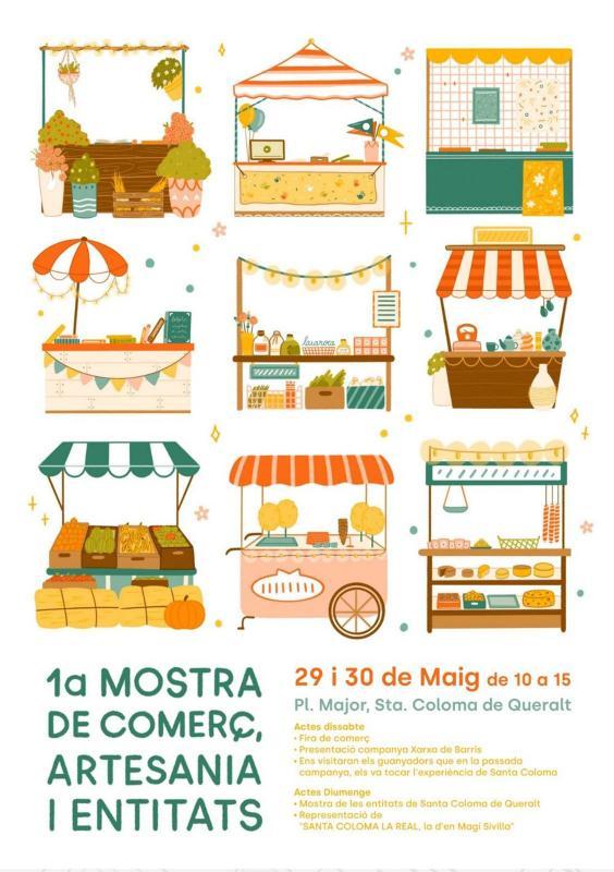cartell 1a Mostra de Comerç, Artesania i Entitats