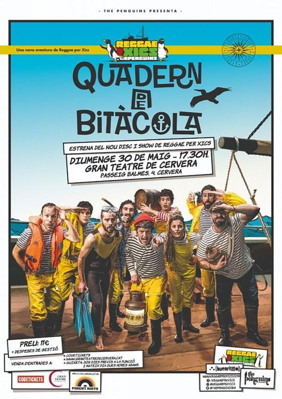 Espectacle familiar 'Quadern de Bitàcola' amb Reggae Xics