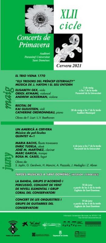 cartell Concert del Quintet 4+1