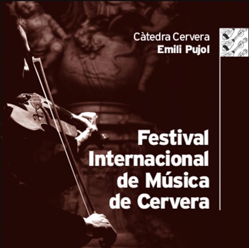 cartell XL Festival Internacional de Música de Cervera - Cervera