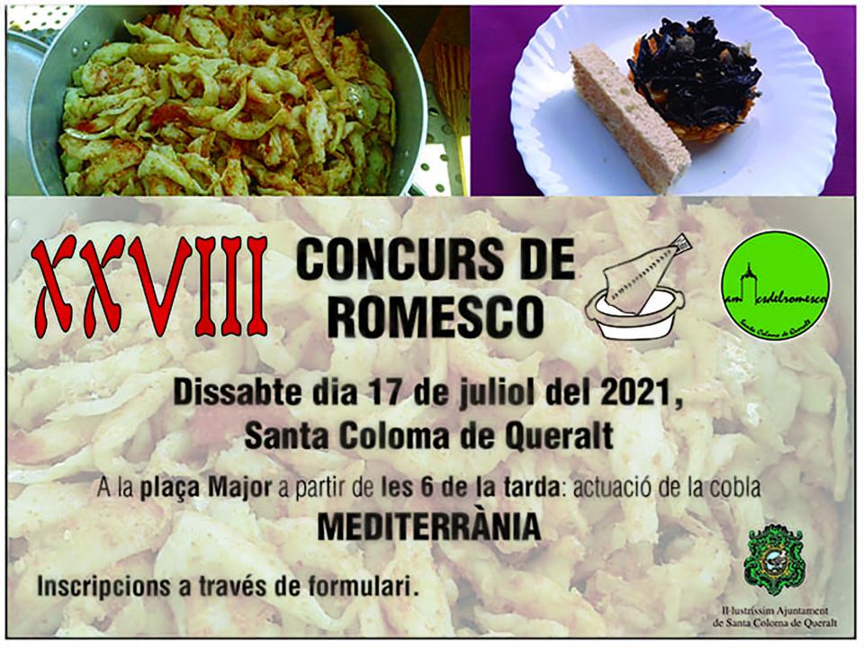 cartell XXVIII Aplec del Romesco Colomí