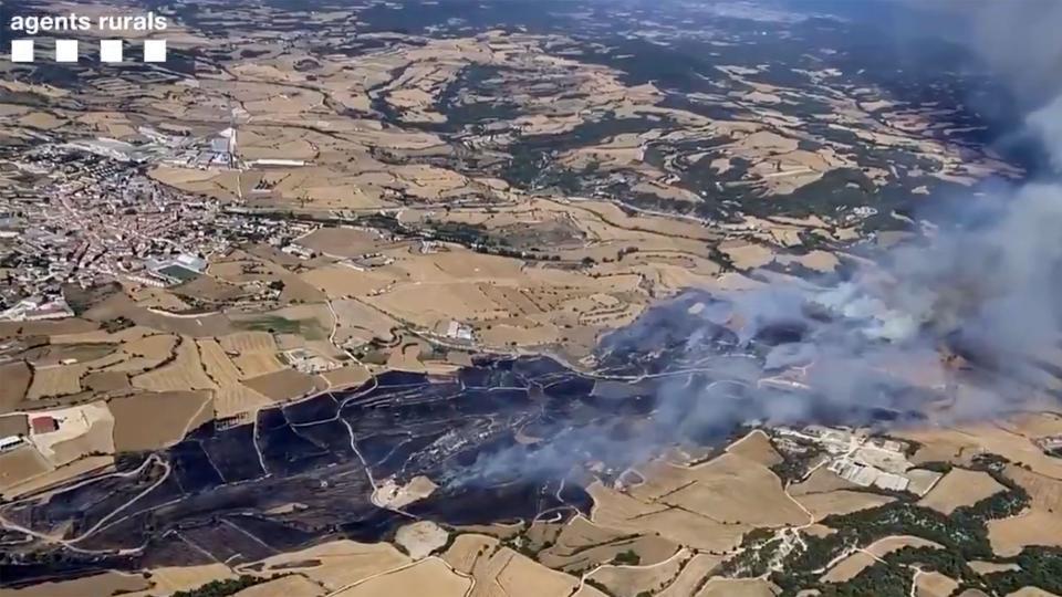 l'incendi dissabte a Santa Coloma de Queralt - Santa Coloma de Queralt