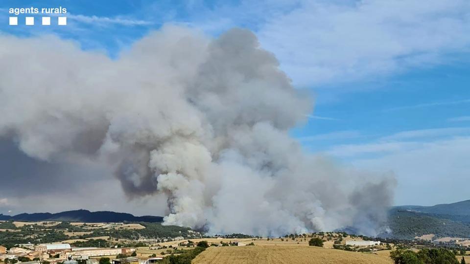 L'incendi forestal dissabte zona de Bellprat - Santa Coloma de Queralt