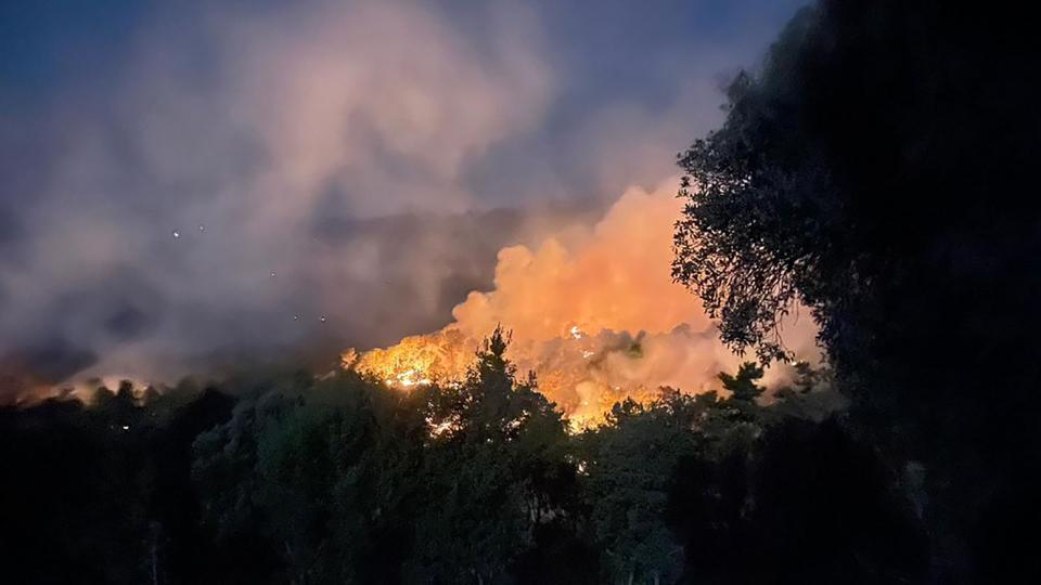 L'incendi forestal dissabte nit zona de Bellprat - Santa Coloma de Queralt