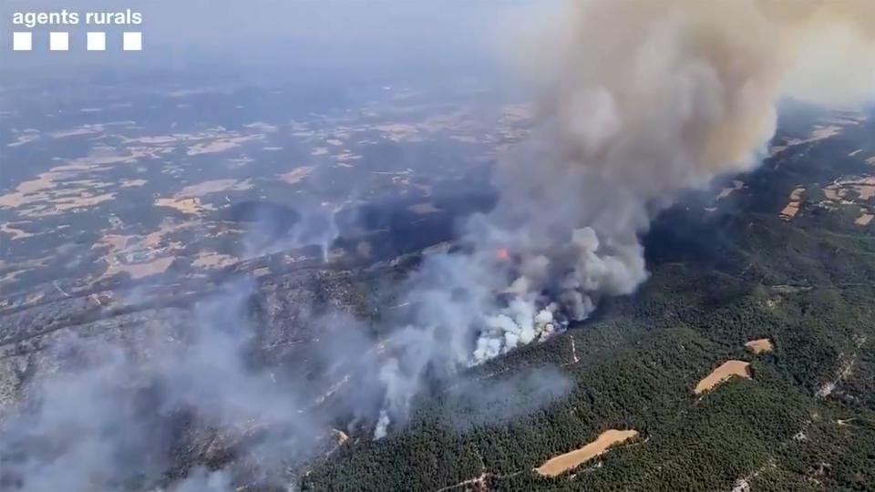 l'incendi diumenge a la zona de la Serra de Miralles - Santa Coloma de Queralt
