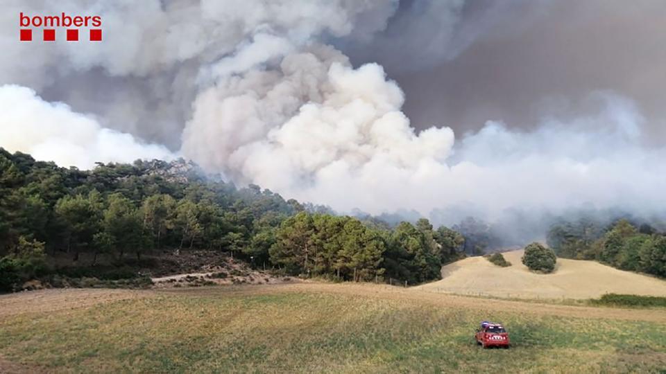 l'incendi diumenge a la zona de Sant Martí de Tous - Santa Coloma de Queralt